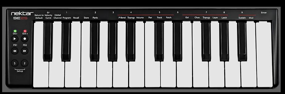 SE25 MIDI Controller | Nektar Technology, Inc