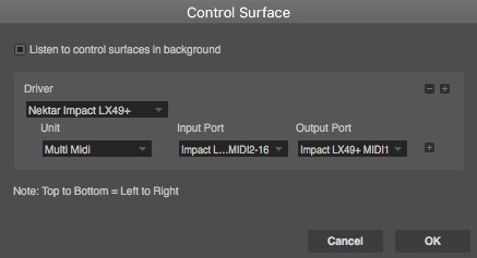 Panorama MIDI ports should be configured as per the above in OS X