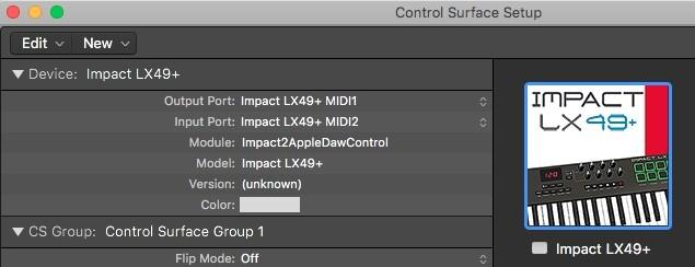Logic - Control Surface Setup - Impact