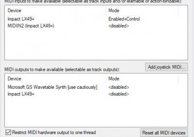 Image 6) MIDI Hardware Settings Windows