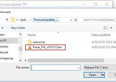 Image 3) .bin firmware file for Pacer