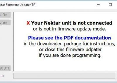 Image 2) nkupdate does not detect a Nektar device in update mode