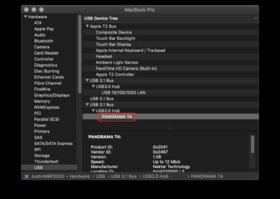 MacOS USB Device Tree