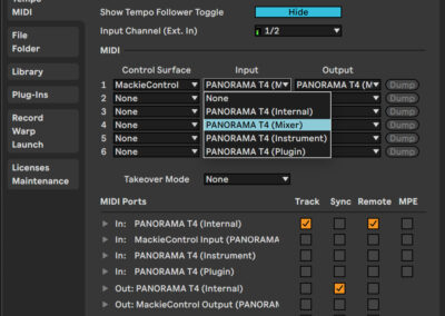 Panorama T Series - Live - MacOS