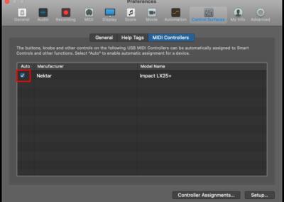 9) Logic MIDI Controllers - Auto