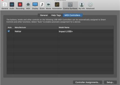Logic - Control Surfaces/Preferences - Impact